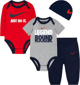 Nike 4-pc. Obsidian Legend Logo Bodysuit Set - Baby Boys newborn-24m