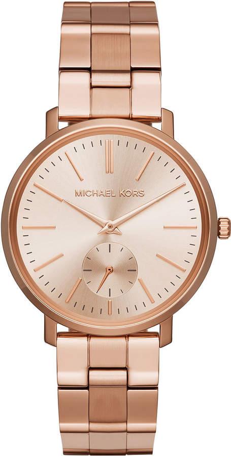 MICHAEL Michael Kors 38mm Jaryn Bracelet Watch, Rose Golden