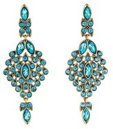 Oscar de la Renta Teardrop Framed Crystal Statement Earrings