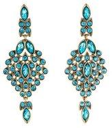 Oscar de la Renta Teardrop Framed Crystal Statement Earrings