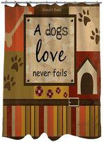 Thumbprintz ''A Dogs Love Never Fails'' Fabric Shower Curtain