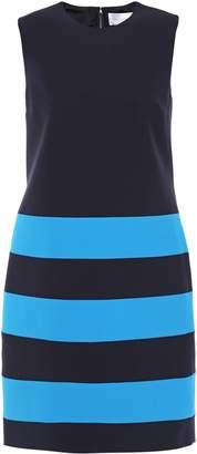 Victoria Victoria Beckham Striped Cady Mini Dress