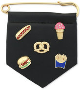 BCBGeneration Gold-Tone Party Food Pin Set