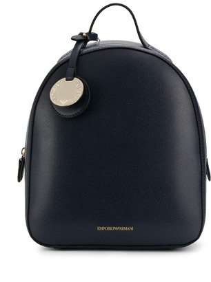 Emporio Armani textured faux-leather backpack
