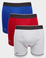 Lacoste 3 Pack Trunks In Longer Length - Multi