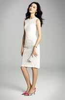 Jill Stuart Jill Illusion Yoke Lace Sheath Dress