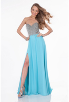 Terani Couture 1612P0555A Jewel Encrusted Sweetheart Gown