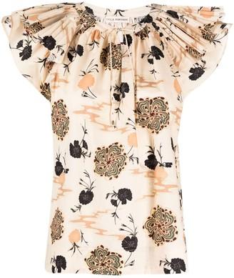 Ulla Johnson Live floral print top