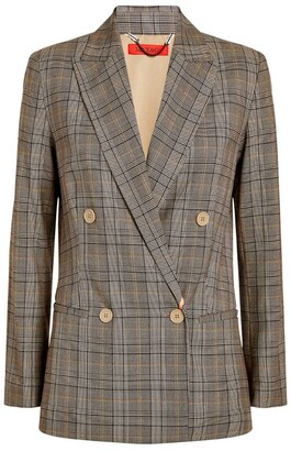 Max & Co. Double-Breasted Check Blazer