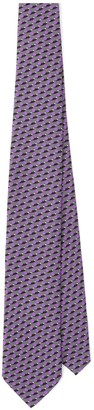 Prada Geometric-Print Pointed-Tip Tie