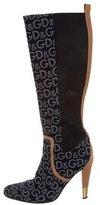 Dolce & Gabbana Woven Logo Boots