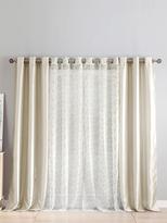 Kensie Maddelena Sheer & Faux Silk Grommet Window Panels (Set of 4)