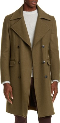 eidos Trim Fit Wool & Cashmere Double Breasted Coat
