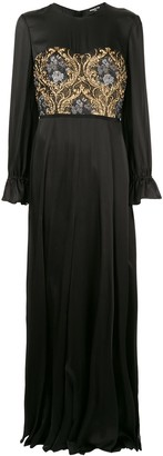 Paule Ka baroque jacquard gown