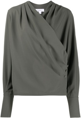 Beaufille Buttoned Wrap-Style Blouse