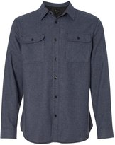 Burnside Solid Long Sleeve Flannel Shirt.B8200