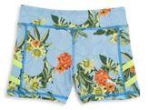 Puma Girl's Mixed-Print Shorts
