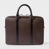 Paul Smith Men's Brown 'City Embossed' Leather Slim Business Folio