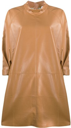 Áeron Faux Leather Dress