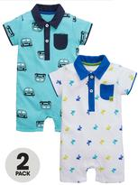 Ladybird Baby Boys 2pk Polo Rompers
