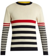 MAISON KITSUNÉ Crew-neck striped wool sweater