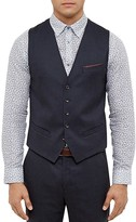 Ted Baker Cabwai Mini Design Regular Fit Waistcoat