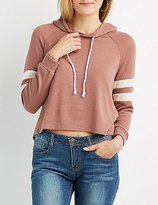 Charlotte Russe Plus Size Varsity Stripe High-Low Hoodie