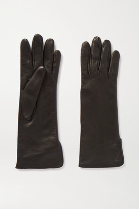 Loro Piana Leather Gloves - Black