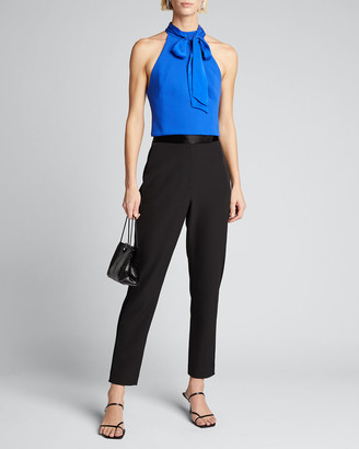 Alice + Olivia Minna Bow-Neck Crop Top