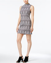 Kensie Aztec-Print Bodycon Dress
