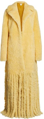Bottega Veneta Long Shearling Fringe Coat