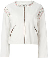 Etoile Isabel Marant Buddy jacket - women - Leather/Polyester - 36