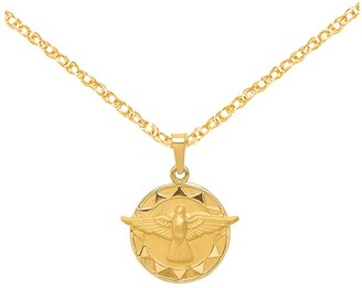 14K Gold Holy Spirit Medal with Chain