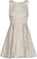 Alice + Olivia Natalia open-back lace mini dress