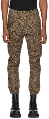 R 13 Brown Leopard Military Cargo Pants