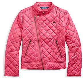 Ralph Lauren Girl's Quilted Biker Jacket