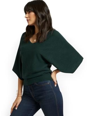New York & Co. Kimono Sleeve V-Neck Sweater