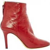 Isabel Marant Red Leather Ankle boots