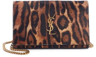 Saint Laurent Monogramme Genuine Calf Hair Wallet on a Chain