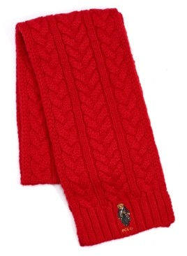Polo Ralph Lauren Men's Cable-Knit Bear Scarf