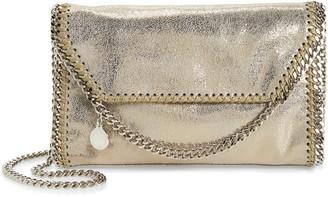 Stella McCartney Mini Falabella Metallic Faux Leather Shoulder Bag