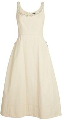 Simone Rocha Embellished Scoop-Neck Dress