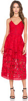 Nicholas Floral Lace Rouleau Ball Dress