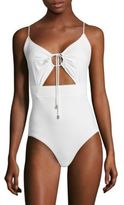 Michael Kors One-Piece Cutout Swimsuit