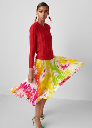 Ralph Lauren Fonda Ombre-Floral Silk Dress