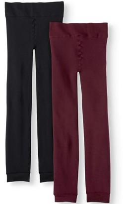 Time and Tru Women's Super Soft Fleece-Lined Leggings, 2-Pack