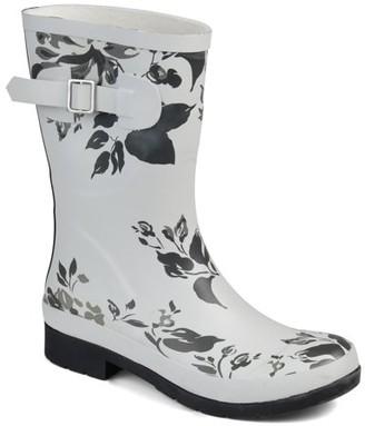 Brinley Co. Womens Classic Rubber Rain Boot