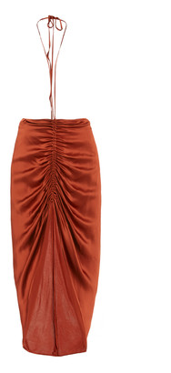 Dion Lee Ruched Satin Skirt