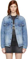 Saint Laurent Blue Oversized Denim Jacket