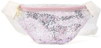 Betsey Johnson LUV BETSEY BY Marla Clear Printed Hologram Belt Bag